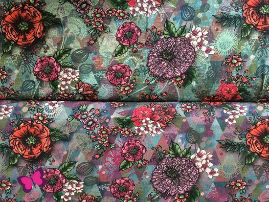 Vigo Jersey Blumen