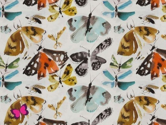 Katja Viskose mit Schmetterlingen