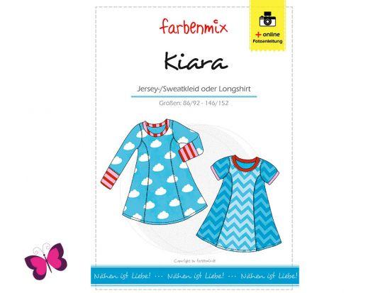 Kiara Jersey-/Sweatkleid Longshirt Farbenmix