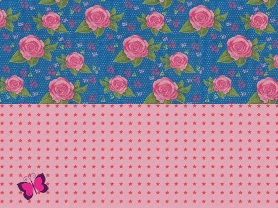 Rosen Sterne Stoffpaket Kim