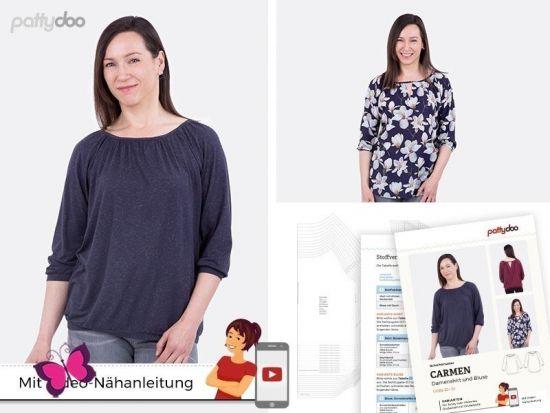Shirt und Bluse Carmen Schnittmuster