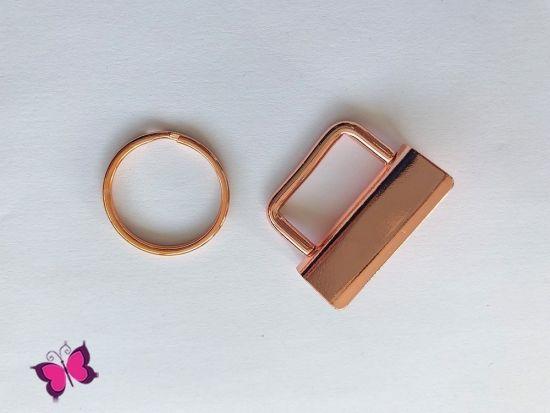 Schlüsselband-Rohlinge 3 cm inkl. Schlüsselring rosegold