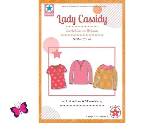 Lady Cassidy Schnittmuster Tunikabluse aus Webware