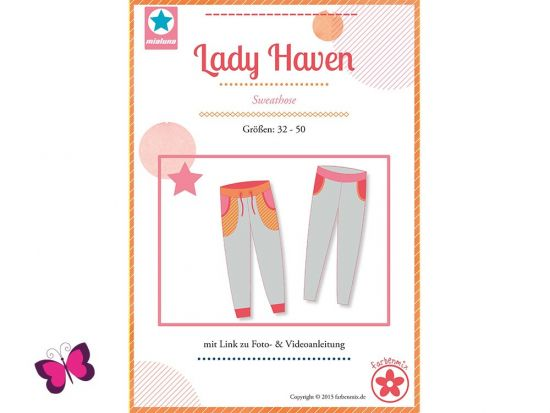Lady Haven Sweathose Papierschnittmuster mialuna