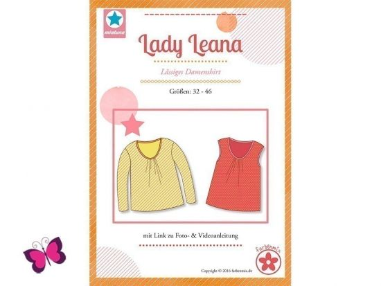 Lady Leana Schnittmuster lässiges Damenshirt