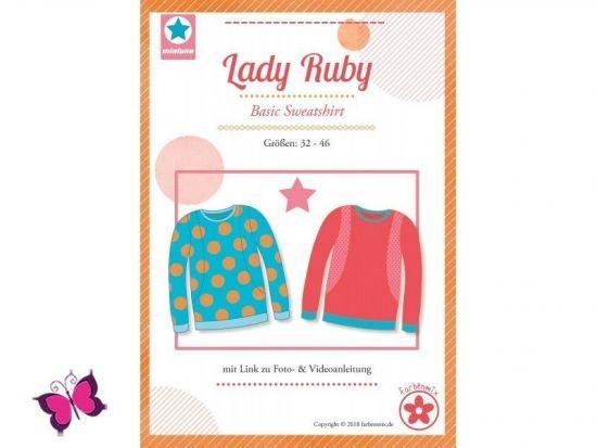 Lady Ruby Basic Sweatshirt Schnittmuster mialuna
