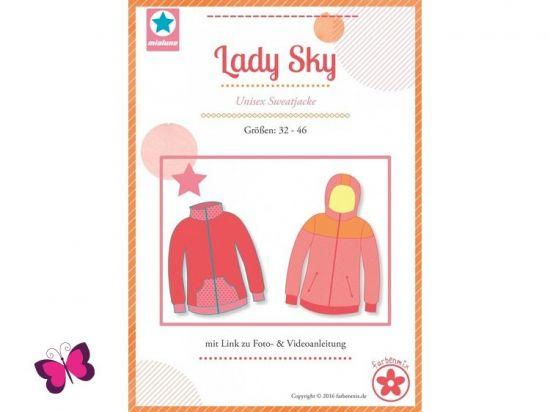 Lady Sky Sweatjacke Schnittmuster mialuna
