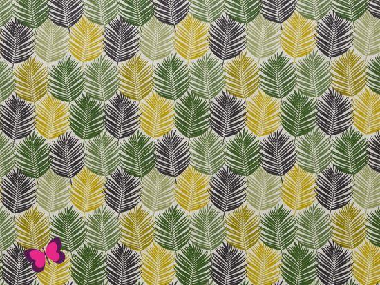 Leonie Baumwolle beschichtet Blätter olivgrün