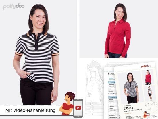 Poloshirt & Kleid Leslie Schnittmuster
