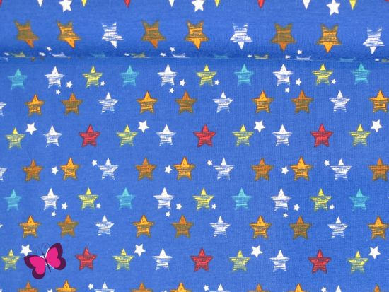Stars Jersey blau bunt