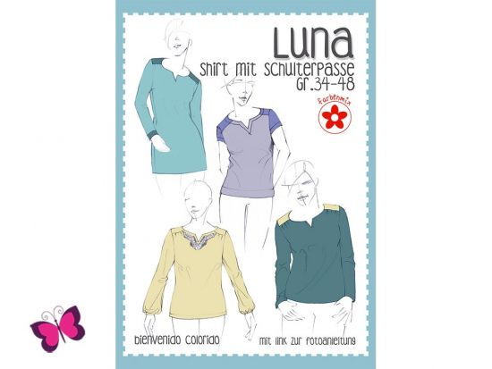 Luna Schnittmuster Shirt mit Schulterpasse
