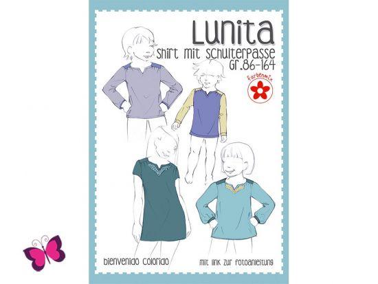 Lunita Schnittmuster Shirt mit Schulterpasse