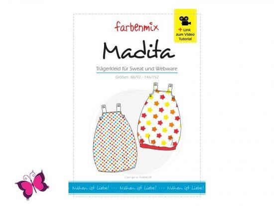 Madita Trägerkleid Schnittmuster Farbenmix