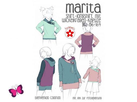 Marita Shirt mit Wickelkragen Schnittmuster