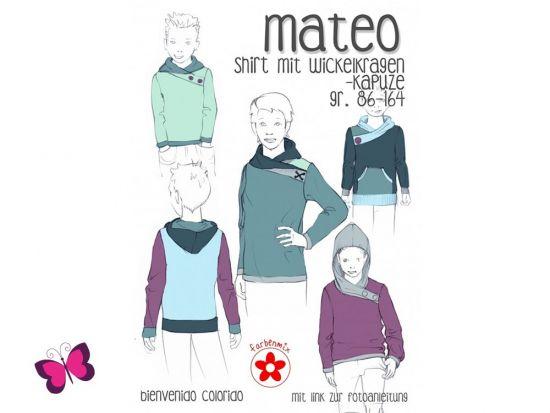 Mateo Shirt mit Wickelkragen Schnittmuster
