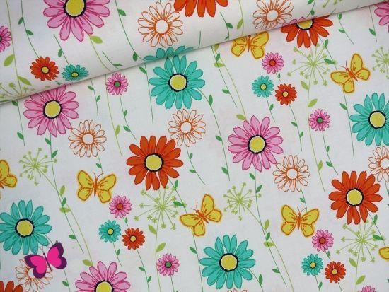 Doodle Daisy Webware mit Blumen