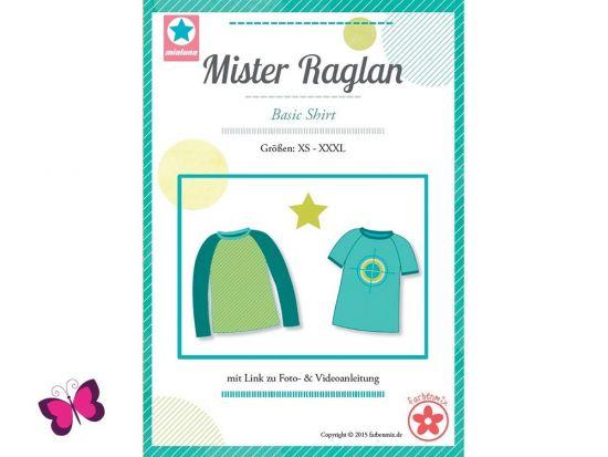 Mister Raglan Basic Shirt Schnittmuster mialuna