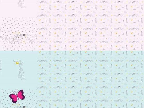 My little Baby 101 Dalmatiner Herz Jersey Panele
