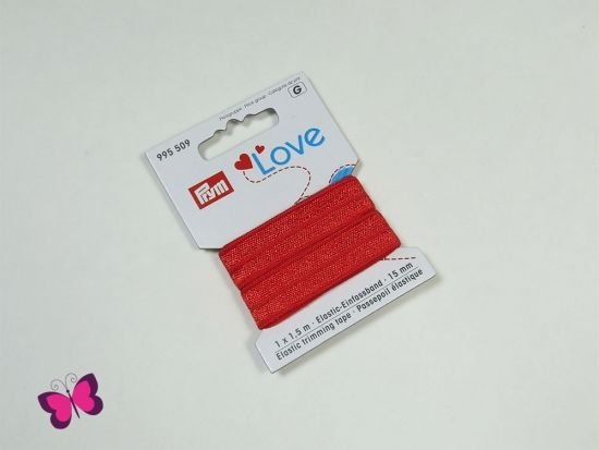 Prym Love Elastic-Einfassband rot