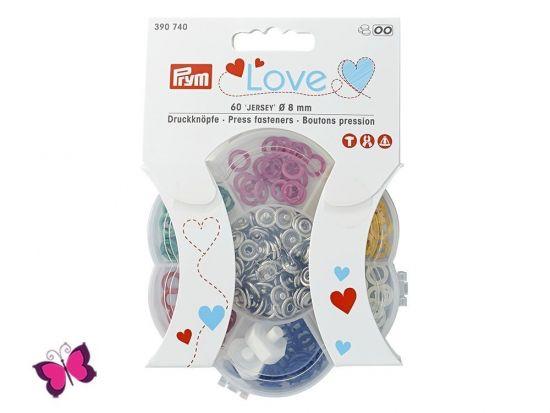 Prym Love Jersey Druckknöpfe 8 mm 6 Farben