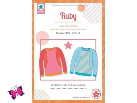 Ruby Basic Sweatshirt Schnittmuster mialuna