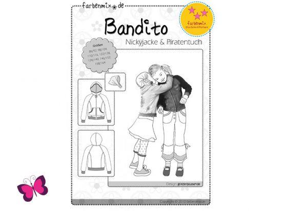 Schnittmuster Bandito Farbenmix Jacke und Tuch