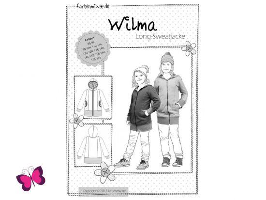 Schnittmuster Wilma Long Sweatjacke