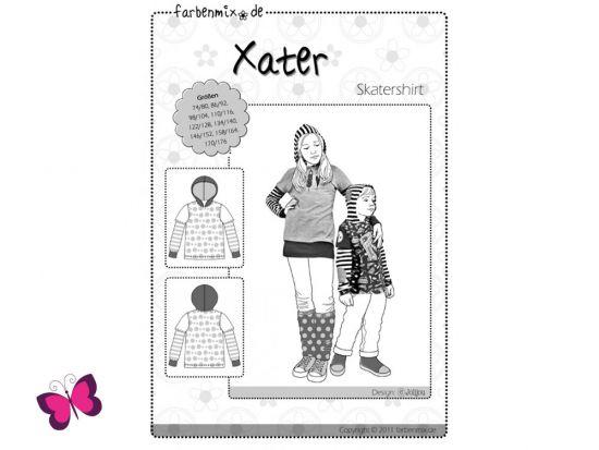 Schnittmuster Xater Farbenmix Skatershirt Unisex