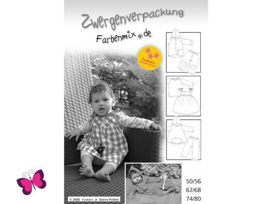 Schnittmuster Zwergenverpackung Vol. I Farbenmix Babyset