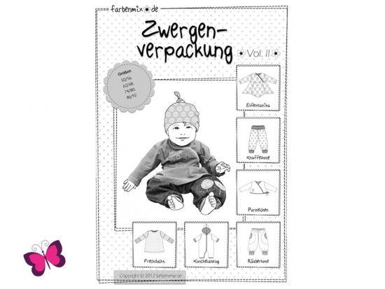 Schnittmuster Zwergenverpackung Vol. II Farbenmix Babyset