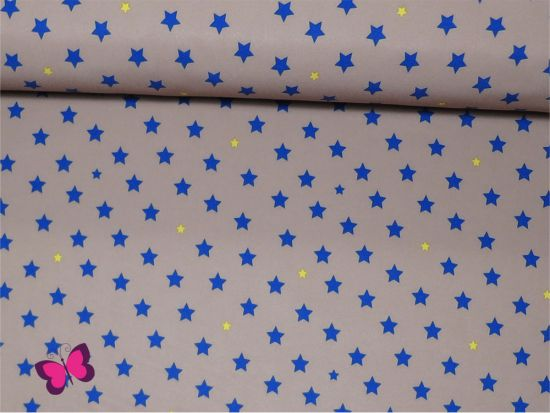 Softshell Sterne Blau Beige