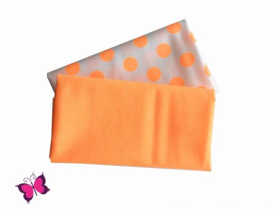 ​Stoffpaket Cotton Dots Solis neon orange Riley Blake