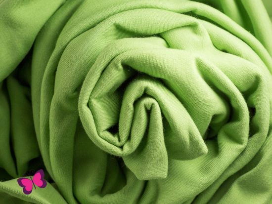 Sweat Maike Unifarben kiwi hellgrün