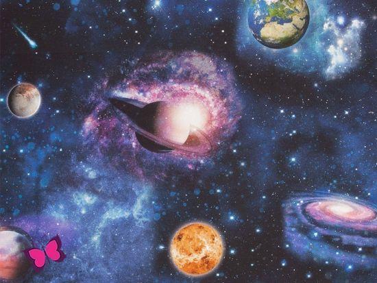 Weltraum Dekostoff Tiffi