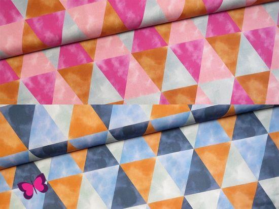 Trioboho Baumwollsatin mit Dreiecken