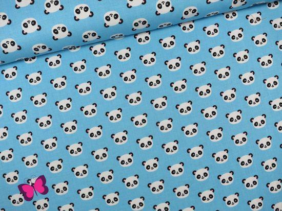 Urban Zoologie Mini Baumwolle mit Pandabären hellblau