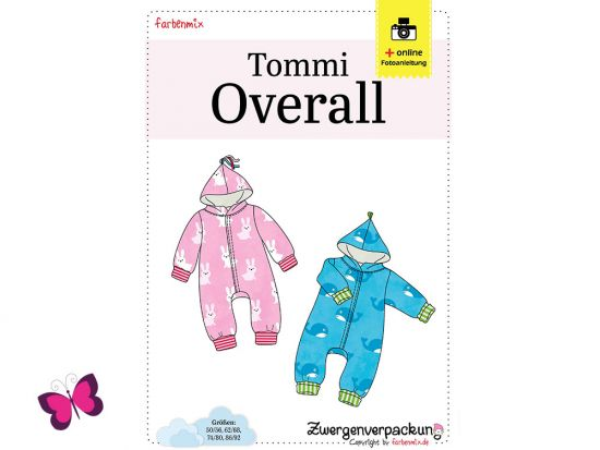 Schnittmuster Zwergenverpackung Overall Tommi