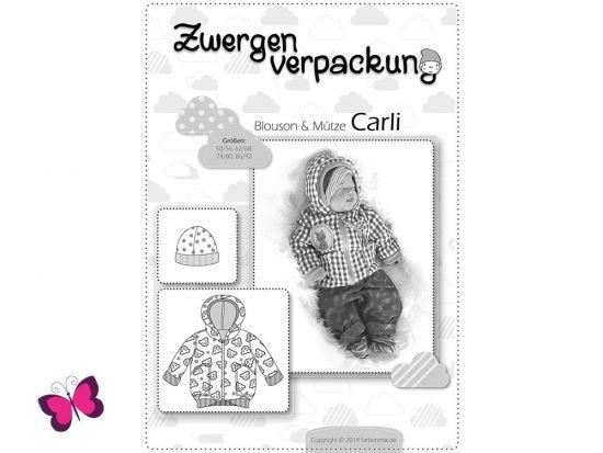 Schnittmuster Zwergenverpackung Bluson Mütze Carli