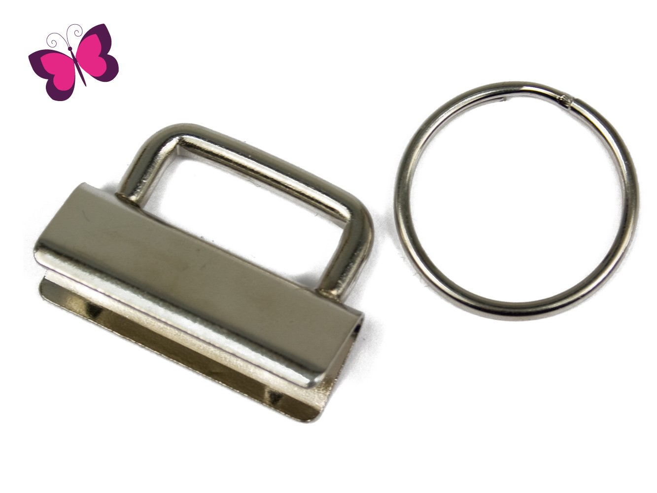 schl sselband rohlinge 2 5 cm inkl schl sselring. Black Bedroom Furniture Sets. Home Design Ideas